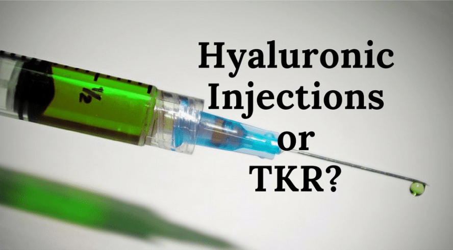 hyaluronic injections knee replacement