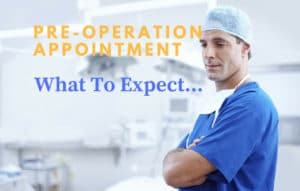 pre-operation pre-admission appointment for knee replacement surgery - what to expect