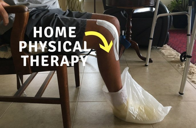 home physical therapy after knee replacement surgery - aggressive