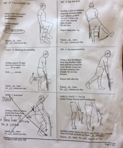 physical therapy after knee replacement surgery - extra exercises