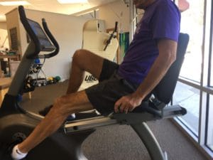 stationary bike - advanced physical therapy after TKR