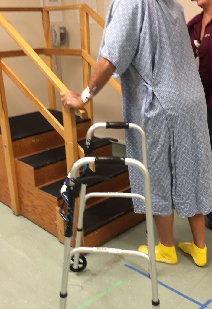 stair test after knee replacement surgery