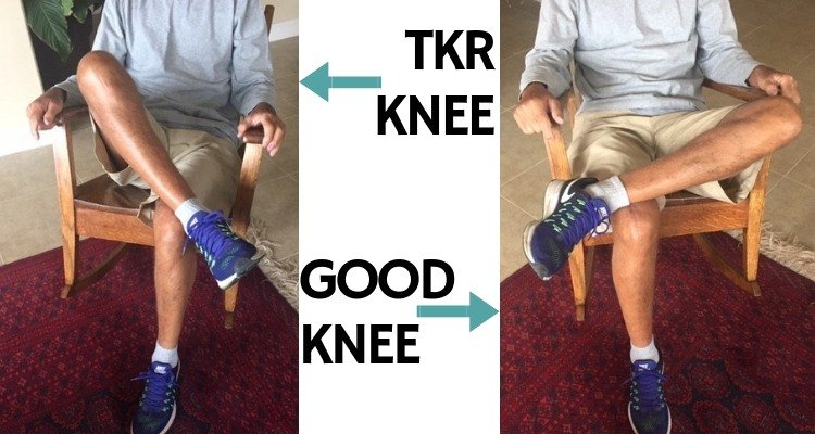 Sit cross legged in chair after knee replacement