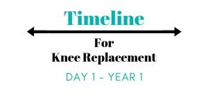 knee replacement recovery timeline